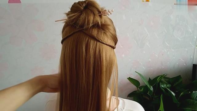 短发必备款古风发型,短发也能变成汉服小仙女!(教程三)