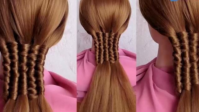 编辫子发型大全图
