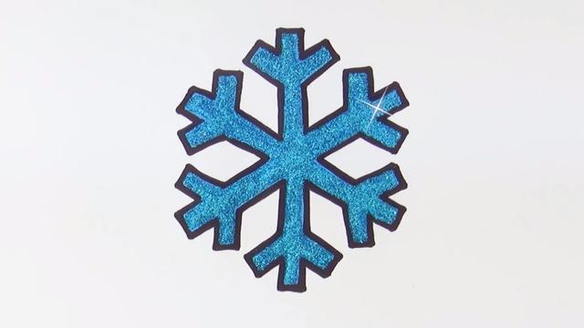 怎么画雪花简单又漂亮