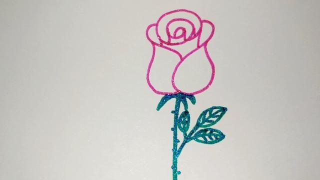 画玫瑰花简笔画的详细步骤_玫瑰花-简笔画大全