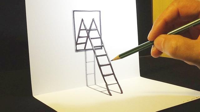 平面白纸上画的鱼_令人惊艳的平面3D立体绘画教程