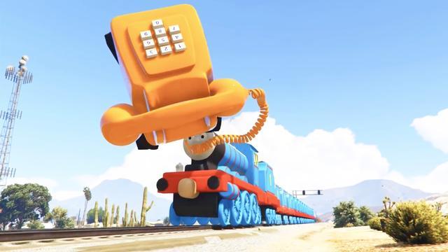 托马斯小火车脱轨爆炸