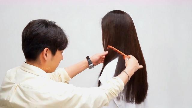 长发碎发这样修剪,快,准,美哦_网易视频