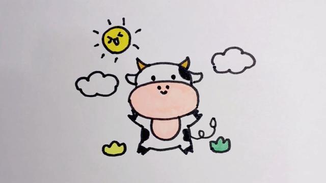 牛简笔画卡通属牛