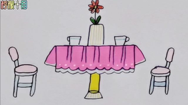 文明餐桌简笔画大全