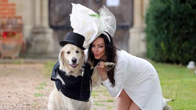 英女子与宠物狗举行盛大婚礼 单膝下跪向狗求婚(高清... _新华网