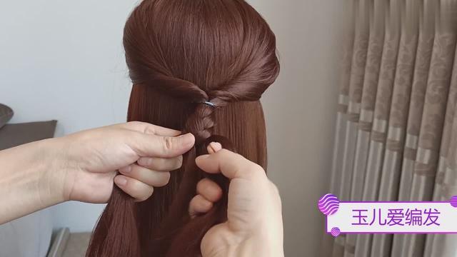 儿童发型女孩编发简单