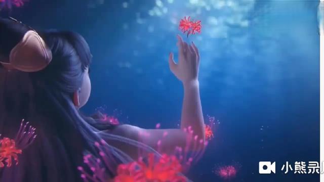 彼岸花花语图片带水