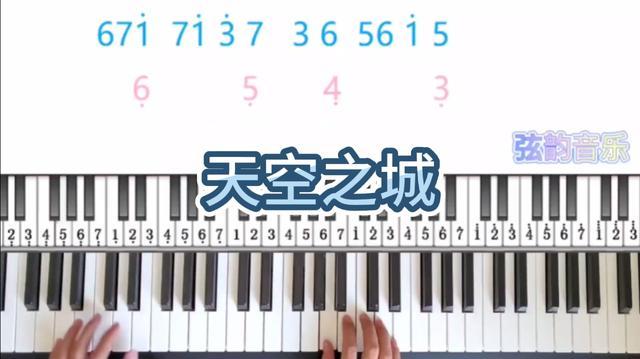 天空之城钢琴谱简单版