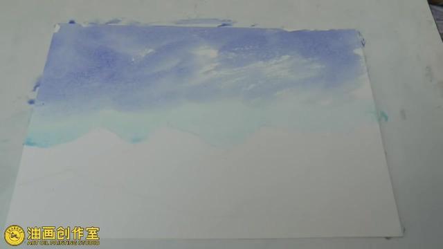简单水粉风景画