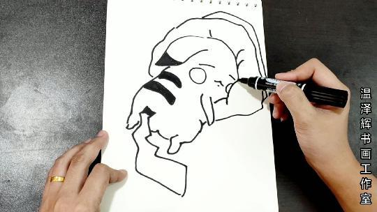 皮卡丘简笔画,可爱的千篇一律,你却丑的很有个性!