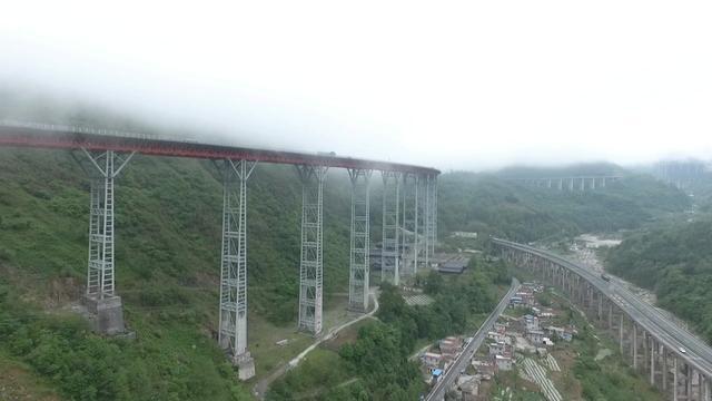 Aerial View Ganhaizi Bridge航拍干海子大桥_哔哩... -bilibili