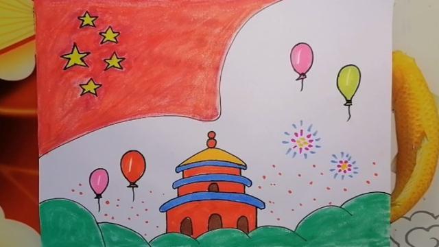 祝福祖国儿童画