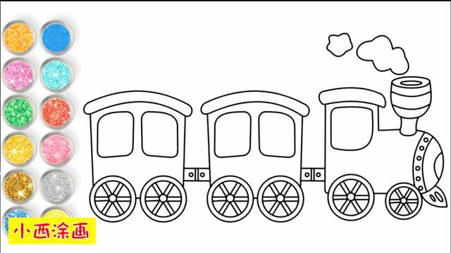 兒童畫跑車圖片大全
