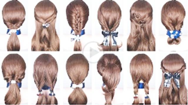 「发型DIY」20种简单的扎发编发技能,一学就会了!