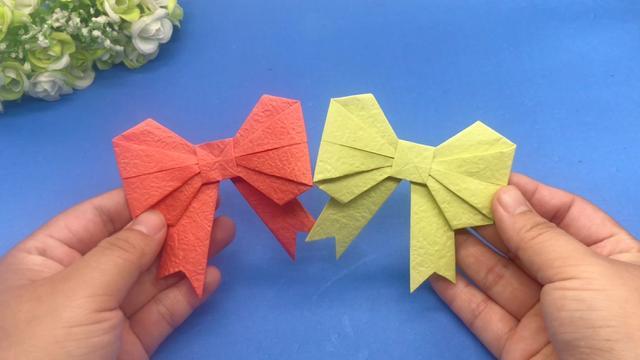 最简单蝴蝶折法4步