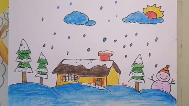 画一幅最美丽的冬天画