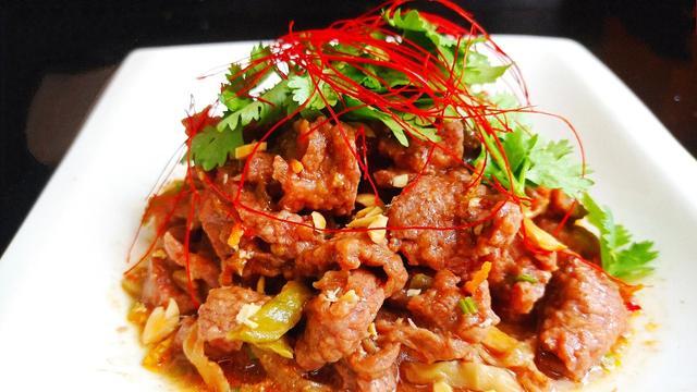 榨菜蒸牛肉