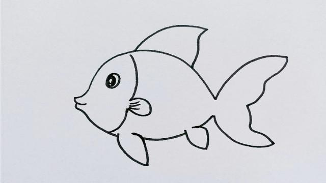 鱼简笔画带颜色