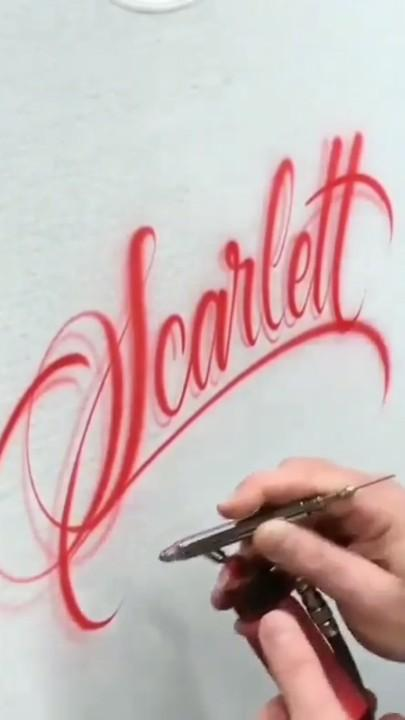 艺术字体手绘简单