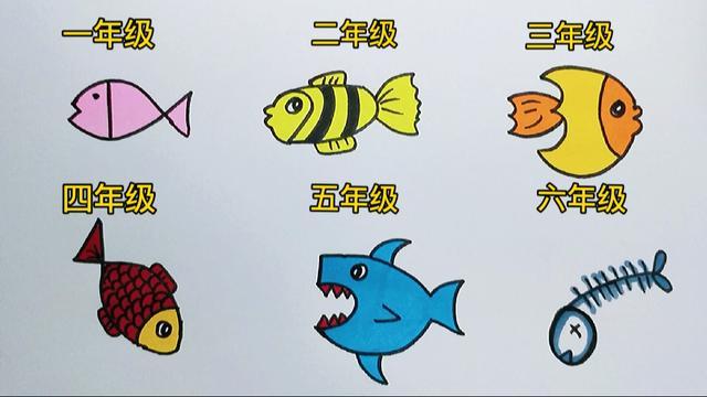 鱼简笔画图片大全
