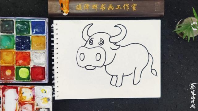 牛简笔画黑白