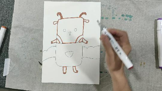 小羊苏西简笔画