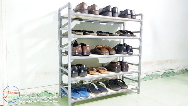 铁丝自制鞋架