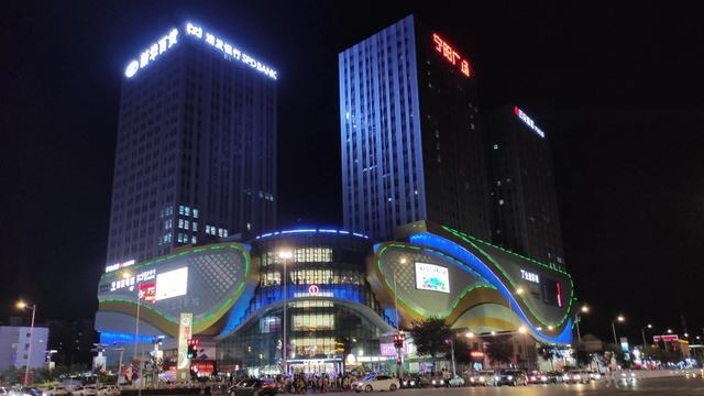银川河东机场图片夜景