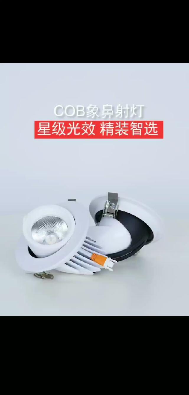 COB LED 明裝吊頂筒燈
