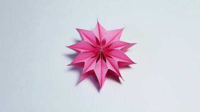 教你手工折纸手工装饰花,三八妇女节手工,简单易学
