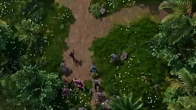 聂离让叶紫芸和呼延兰若逃走,自己对付苍臂巨猿