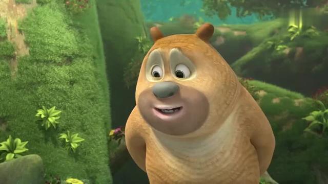 熊熊乐园:榴莲摔破后很臭,熊大和小伙伴打算给它洗个澡!