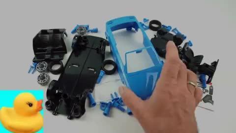 乐高创意定格动画:组装微型的工程车!