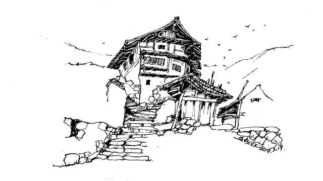 钢笔手绘:立刻上手的风景速写(小木屋)
