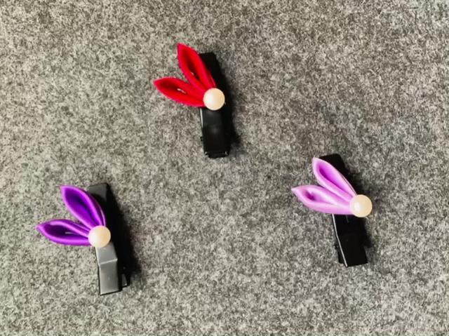 教你做可爱的兔耳朵发夹,比志玲姐姐的可爱哦