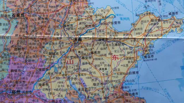 山东地图简笔画