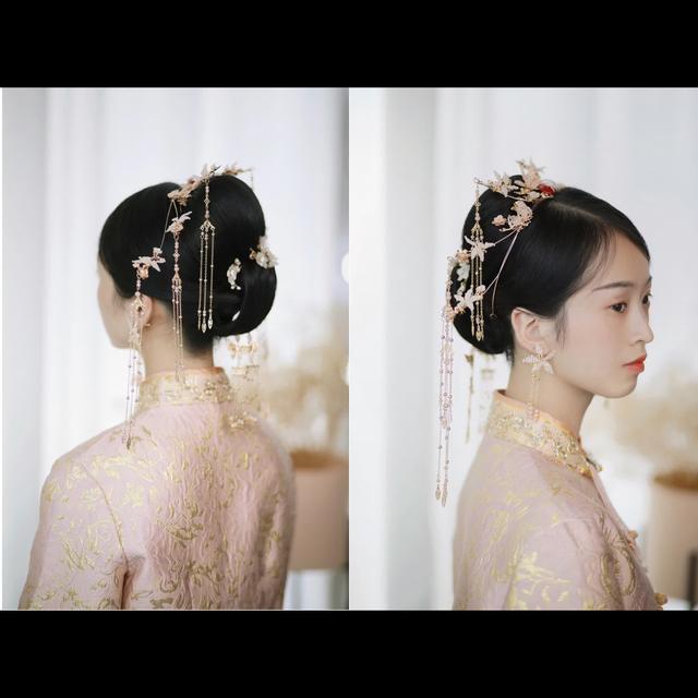 中式秀禾服新娘发型