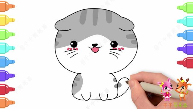 简笔画喵咪的画法图片