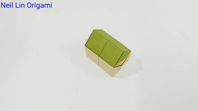 简单的手工折纸:教你用纸折立体房子,适合孩子动手... _网易视频