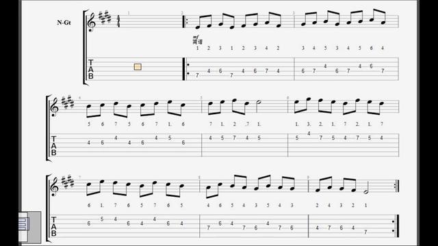 吉他教学E大调常用和弦及音阶