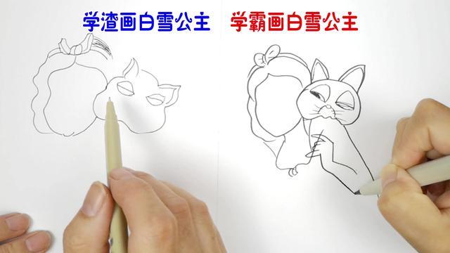 儿童画教程:如何画白雪公主-露西学画画