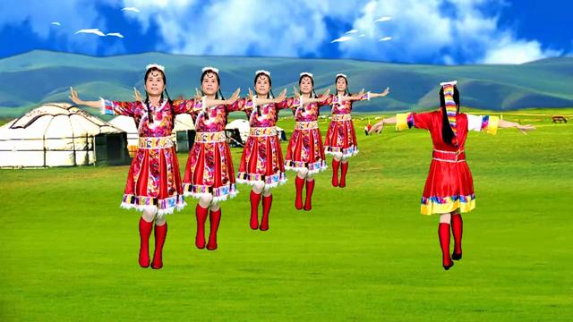 广场舞《马兰花》浓浓的草原风,带你感受大草原气息!