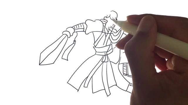 手绘视频:课余手绘李白