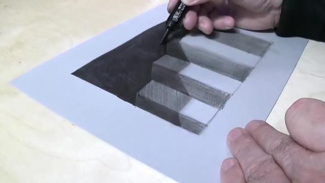 平面表现立体 独特的3D手绘素描作品欣赏