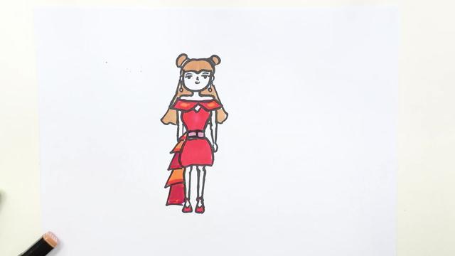 仙女怎么画简笔画图片 仙女一步一步的画法步骤图大全 - 简笔画