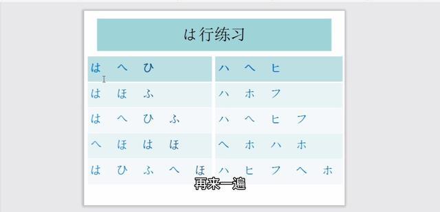 日语五十音图及助记汉字