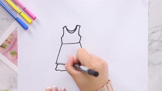 服装手绘效果图基础教程,服装线稿的绘制技法!