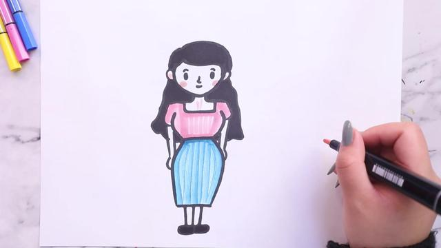 儿童画10岁一12岁简单