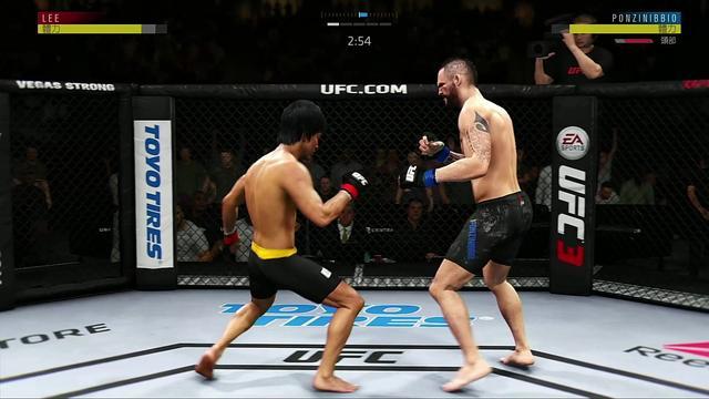 UFC MMA 李小龙荣登冠军 截拳道 功夫拳击 极速进攻 对手无法招架